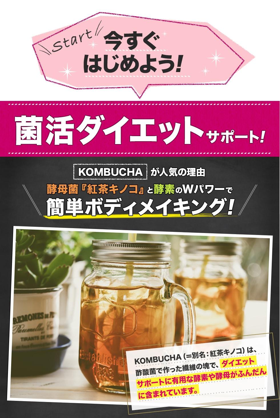 菌活ダイエット,紅茶キノコ,酵素,Wパワー